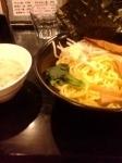 「つけ麺(ど豚骨)・中盛り(無料)」@NOODLE DINING 恵の写真