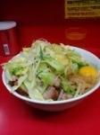 「汁なし小ブタ(ヤサイ・カラメ・魚粉)+生卵」@ラーメン二郎 環七一之江店の写真