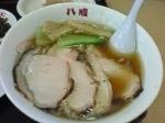 「チャーシュー麺:Aセット(餃子(小)、半ライス、付け合せ、おしん」@ラーメン 八戒の写真