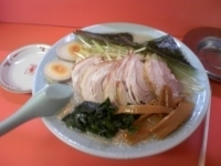 「ネギチャーシューメン醤油(コッテリ・麺固め)¥820 醤油たまご」@ラーメンショップ 尾島店の写真