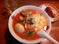 「太陽のボンゴレ麺+味玉+チーズ ¥1080」@太陽のトマト麺 四谷2丁目店の写真