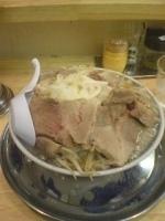 「ふじ麺(中盛)+小豚」@麺絆や 519の写真