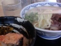 「博多らーめんと焼サバ明太子ごはん880円」@由○ 品川港南店の写真