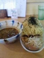 「つけ麺(冷)大盛りサービス750円」@からしやの写真