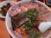「04長浜塩チャーシュー(5秒・ゴ〜ッテリ!)¥900 22辛高菜」@ハングリードラゴンの写真