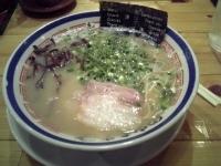 「ラーメン+替玉+赤オニ+ごはん」@博多長浜らーめん 田中商店の写真