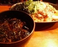 「夏季限定:冷やしつけ麺750円(ぱどクーポンにて100円引き)」@らーめん やぶ家の写真