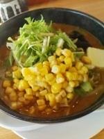 「野菜たっぷりみそらーめん880円+豚めし(サービス)」@天空記の写真