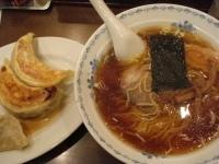 「ラーメンセット(餃子3個・ラーメン)」@みんみんの写真