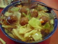「肉だんごうま煮ラーメン+麺大盛」@ラーメン桐生 伊勢崎店の写真