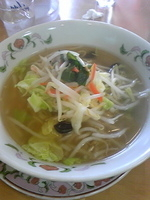 「タンメン」@餃子の王将 石川町店の写真