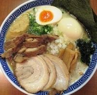 「特製鶏ラーメン+マニア向け特濃厚」@山勝軒の写真