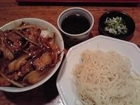 「焼肉丼+ざる中華(Aランチ 650円 )」@中華シゲタ マルエツ六ッ川店サニーロード内の写真