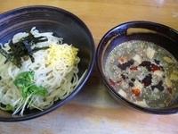 「つけ麺(小+ピリ辛)¥600+餃子6p¥380」@らーめん 翔山の写真