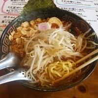 「かもんのみそらーめん(中太麺)+ニンニク+炒めモヤシ+激辛+替玉」@火門拉麺の写真