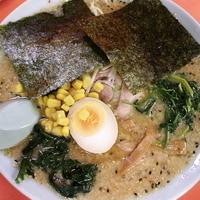 「みそラーメン(麺カタメ・少しコッテリ)¥570 ホウレン草¥50」@ラーメンショップ 尾島店の写真