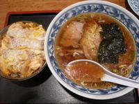 「ラーメン+ミニカツ丼(Aランチ650円)」@中華シゲタ マルエツ六ッ川店サニーロード内の写真