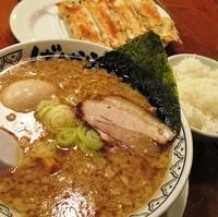 「ばんから+クーポン棒餃子+クーポン味玉+白メシサービス」@東京豚骨拉麺 ばんから 熊谷店の写真