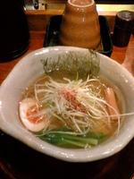 「山水地鶏塩そば:700円」@京都 天下ご麺の写真