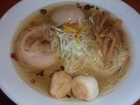 「のどぐろ塩らぁ麺(730円)(9月末までの限定)、味玉(100円」@麺や 来味の写真
