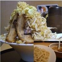「岡村二郎(野菜増し) 850円」@信濃神麺 烈士洵名 ラーメンスタジアム2店の写真