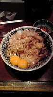 「油そば+卵黄2ヶ」@らーめん大 大森店の写真