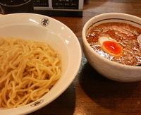 「つけ麺紺(味噌鰹味)&あつもり&中盛300g:800円」@こってりらーめん 誉の写真