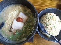 「きれあじ¥600+チャーハンセット¥380」@麺創 天風 柏の森店の写真
