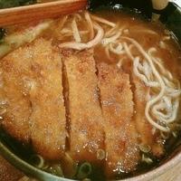 「カレーらーめん(太麺・硬め)¥600 ロースカツ¥300」@富士山食堂の写真