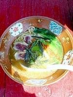 「河内鴨ラーメン」@HABIKINOほんてんラーメンの写真