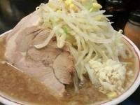 「みそラーメン(野菜ちょい増し、ニンニク)750円」@らぁめん 元気の源 神奈川新町店の写真