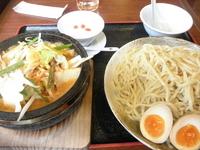「石焼野菜しょうゆちつけ麺+大盛 「724円(割引券使用)+157」@石焼らーめん 火山 春日部店の写真