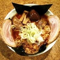 「赤鬼 + チャーシュー + 煮玉子 + ネギ」@きくちひろきの写真