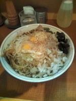 「油めん大盛+卵(930円)」@らーめん ぽっぽっ屋 水道橋店の写真