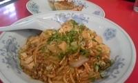 「マーボー麺¥500+餃子¥105」@赤い中華の写真