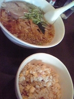 「ラーメン+半チャーハン(ランチセット)」@華天園の写真