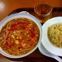 「サンラータン麺セット¥1000(チャーハン・ウーロン茶付)」@中華園の写真