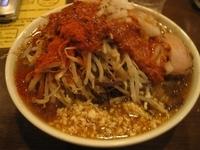「オロチョンラーメン(麺柔らかめトッピング全部)550円」@にかいやの写真