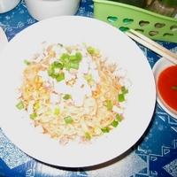 「汁無し麺 350チャット(約¥35・日本円)」@ラースォの写真