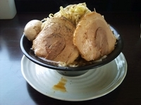 「野菜ラーメン(並)+チャーシュー+味玉」@麺屋 一心の写真