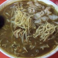 「カレーラーメン(麺硬め)¥750 ワンタン¥150」@中華料理 松屋軒の写真