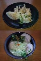 「特製とりそば改(塩)+こってり+大盛り+水餃子」@麺屋 ざくろの写真
