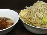 「蓮エビ大つけ麺(500g:ニンニクヤサイ?)@1100」@蓮爾 さんこま店の写真