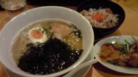 「海苔塩麺(490円、五目ごはんセット650円)」@トマトの花 吉祥寺店の写真