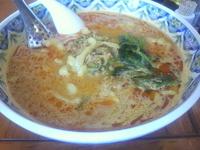 「タンタン麺(刀切麺)ランチ炒飯セット(990円)」@中国ラーメン 揚州商人 第二産業南中野店の写真