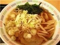 「ラーメン 360円、ネギ増し(無料)」@かわさき蕎麦の写真