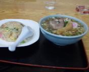 「チャーハン ラーメンセット780円」@誠来軒の写真