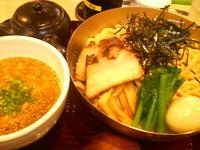 「鶏白湯つけ麺+味玉+チャーシュー2枚」@らーめん獅童Ø 稔台店の写真