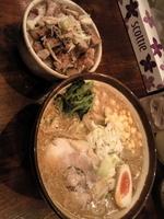 「・味噌らーめん¥800+・炙りチャーシューめし¥300」@横浜らーめん 上州田村家の写真