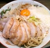 「小ぶたダブル(ニンニク・アブラ・カラメ)+汁なし+粉チーズ(85」@ラーメン二郎 横浜関内店の写真